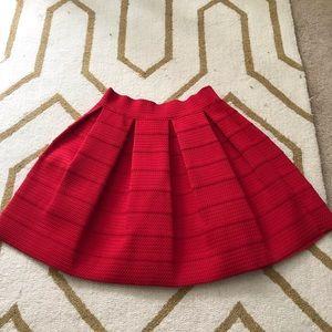 Express red mini skirt SZ M.